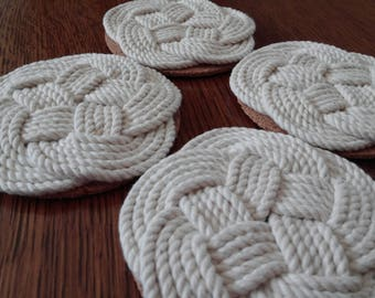 Turk's Head Nautical Coasters