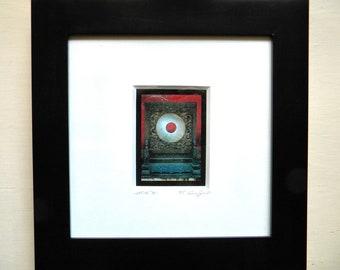 10x10 Framed Art, Asian Art Print Framed, Forbidden City Framed Photography, Red Grey Asian Decor, Framed Wall Art, Jade Bi, Miniature Art