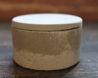 Small Gray Concrete Jar/Salt Cellar. Discontinued/Factory Second