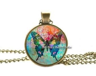 BUTTERFLY PENDANT Butterfly jewelry Butterfly Necklace