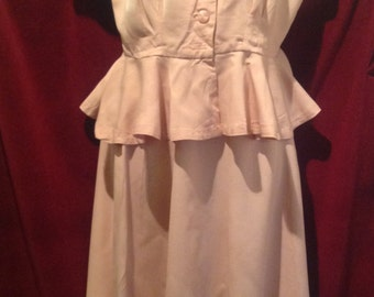 1940s /1950s  2 piece PINK Gaberdine Ladies Suit.