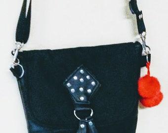 Crossbody Bag, Vegan Crossbody Bag, Crossbody Crossbody with Vegan Leather, Zipper Shoulder Bag, Gift for her