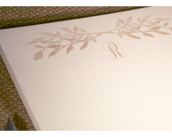 Monogram Notepad - Personal Note Pad with Olive Branch Design - Notepad - Personalized Note Pad