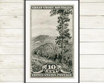 Great Smoky Mountains, Smoky National Park, National Parks posters, National Parks prints, Smokey Mountains Park, National Parks wall art