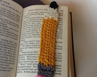 Crocheted Pencil bookmark teacher gift graduate gift secretary student teacher gift