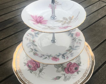 Beautiful 3 tier vintage cake stand