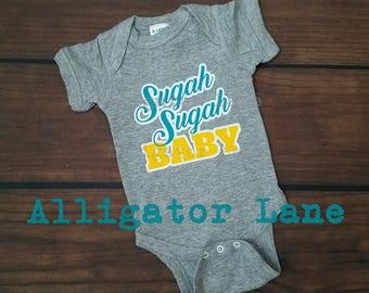 Sugah Sugah Baby One Piece Bodysuit for baby GD Pregnancy Gestaional Diabetes Sugar Baby Celebrate