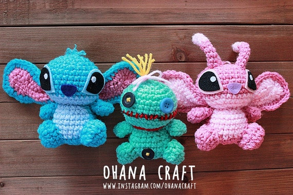 Free Amigurumi Angel : Free shipping lilo and stitch scrump and angel inspired