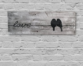 Rustic Birds on a Wire/Love Wall Decor