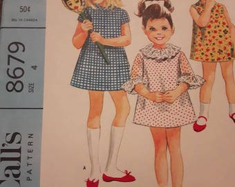 McCall's 8679, Child's Vintage Dress Pattern