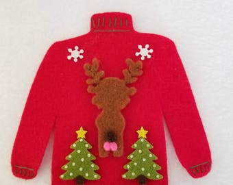 Ugly Christmas sweater catnip toy