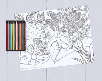 Fairy Garden Adult Coloring Printables