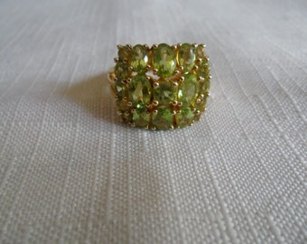 Vintage Peridot Gold Vermeil Ring size 6.5