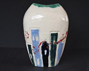 Hazel Leach Studio Pottery Vase , Hazel Leach Ceramic Vase