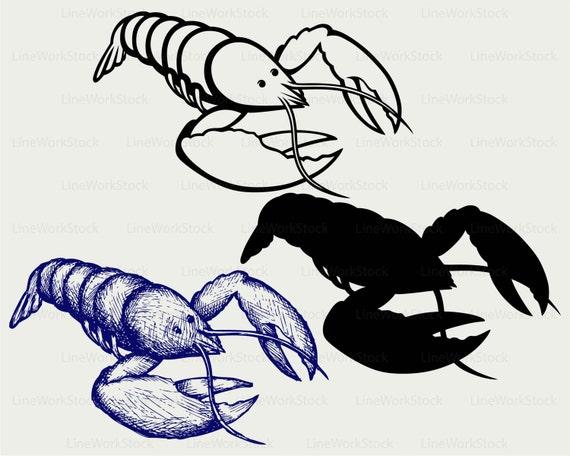 crayfish svg crayfish clipart crayfish svg crayfish silhouette rh etsystudio com  crazy fish clip art