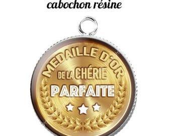 20 mm resin cabochon pendant medal sweetheart... 15