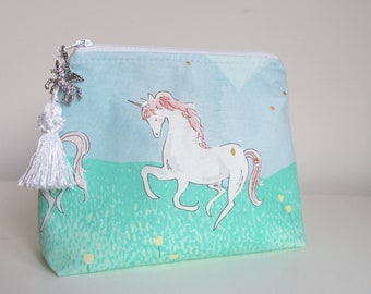 Unicorn Makeup Bag Cosmetic Bag Jewelry Pouch