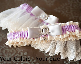 Wedding Garter Set in your colors. Rhinestone Garter Set, Wedding Garters, Lace Garters, Satin Garters, Garters, 14 Styles to choose from