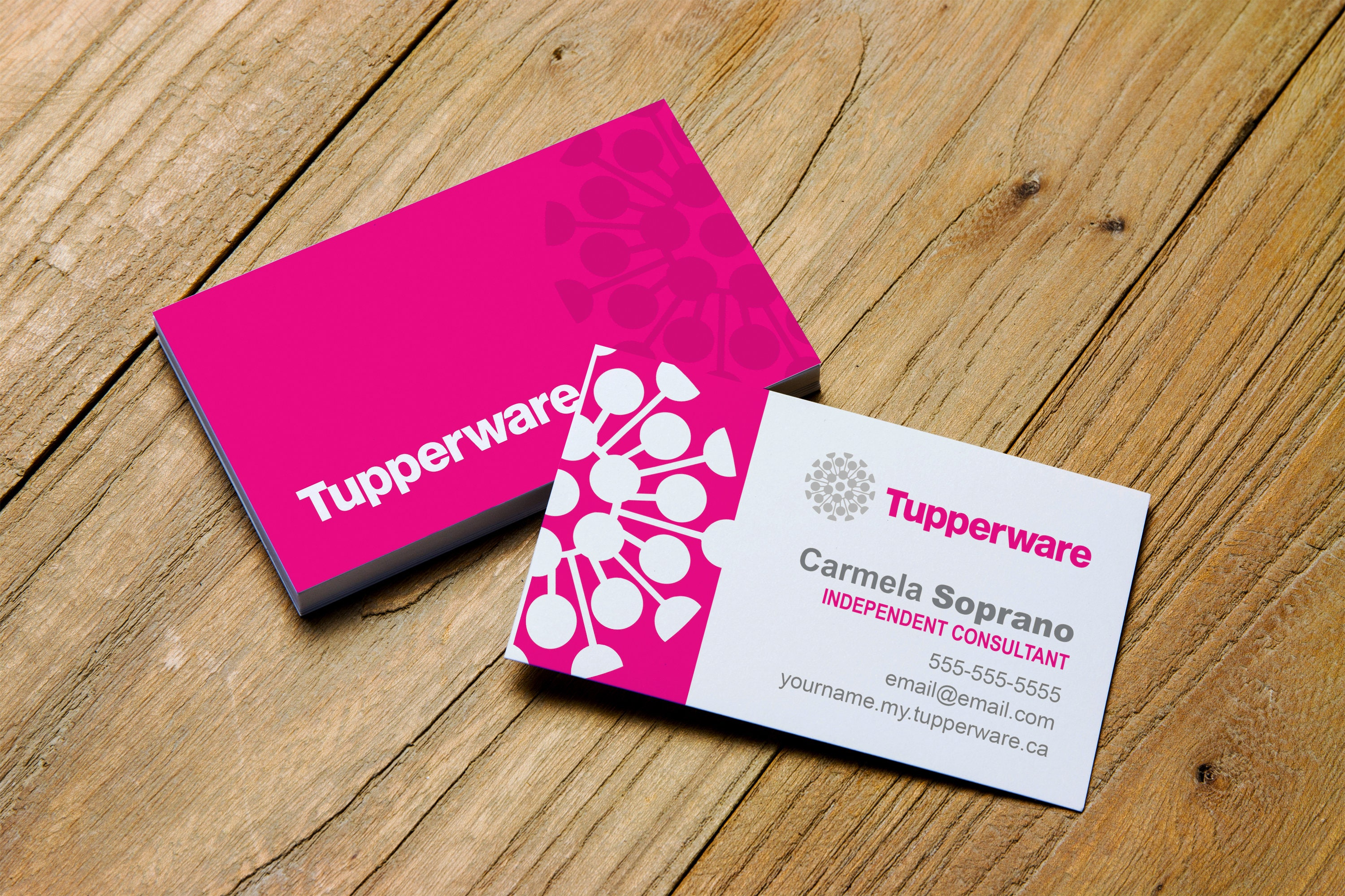 Tupperware Printable Business Card Personalized for