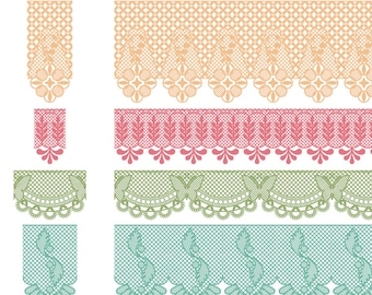Lace Photoshop Brushes, Lace Borders Photoshop Brushes - Commercial and Personal