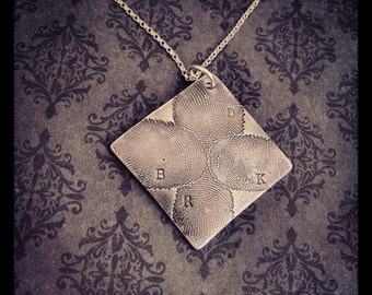 Fingerprint Jewelry -Fingerprint Necklace - Actual fingerprint - Family necklace - Personalized Jewelry - Say Anything Jewelry