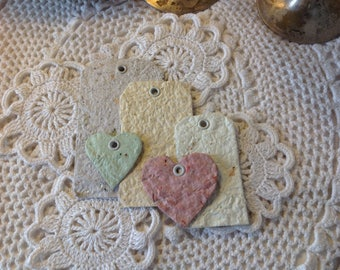 Hand made paper tags