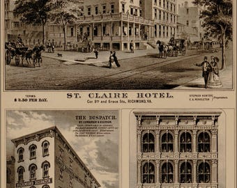 Poster, Many Sizes Available; St. Claire Hotel Richmond Virginia 1877