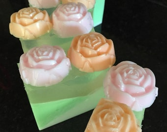 Wild Roses Soap// Happy Mothers Day Soap//  Royalty// Gift Under 10// Gift for Her// Homemade Soap// Handmade Soaps// Wedding Favors//Roses
