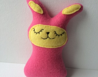 Hot pink small bunny plushie