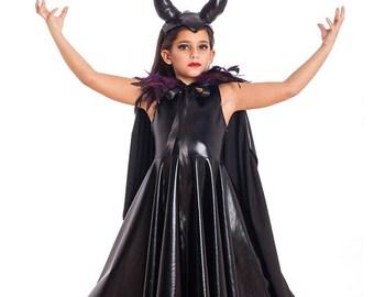 Girls Maleficent Costume Halloween Costumes Kids Costumes Girls Halloween Costume Maleficent Horns Girls Toddler Costume.  sc 1 st  Etsy & Maleficent costume kids | Etsy