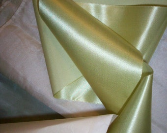 antique silk french lime soft  RARE  ribbon