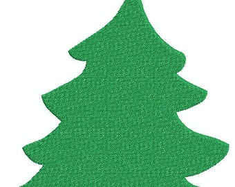 Christmas Tree 1 w/ Star, Fill, Holiday Tree Machine Embroidery Design 376