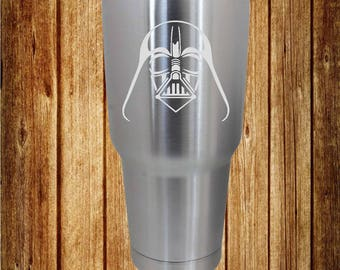 Darth Vader Etched 30 Oz. Ozark Trail Stainless Steel Cup, Etched Cup, Etched Tumbler