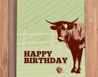 funny birthday card for him / stud muffin card