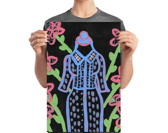 dress and flowers Poster