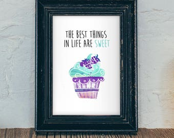 Cupcake Wall Art Cupcake Decor Cupcake Birthday Cupcake Nursery Girls Room Decor Cupcake Nursery Cupcake Print Printable INSTANT DOWNLOAD