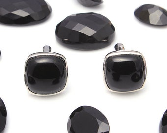 Cufflinks Men's Cufflinks 925 sterling silver with Black onyx and cz Gemstone Men's Cufflinks