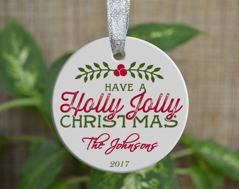 Personalized Christmas Ornament, Our Family ornament, Custom Christmas Ornament, Housewarming gift, Wedding gift, Christmas gift. o037