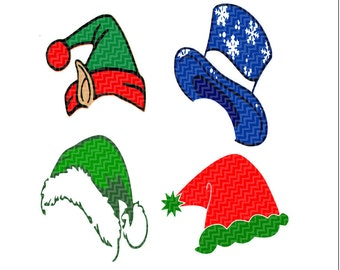 Christmas Hats SVG,EPS Png Dxf,digital download files for Silhouette Cricut, vector Clip Art graphics Vinyl Cutting Machines