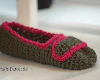 Crochet PATTERN - Easy Crochet Slippers Pattern - Crochet Patterns for Women - Crochet Patterns - House Shoes - Teen Ladies Women - PDF 234
