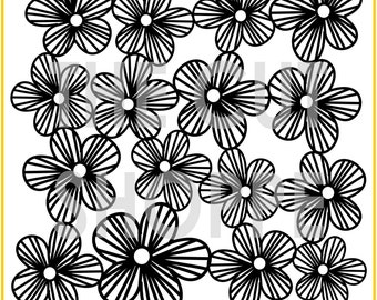 The Flower Power background cut file is available in 8.5x11 and 12x12 sizes, for your scrapbooking and papercrafting projects.