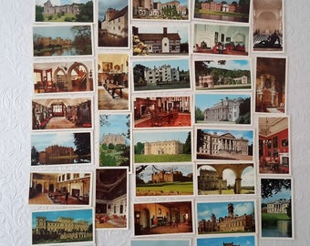 Tobacciana, collectors cigarette trading cards, Doncella Coronet cigars, Country Houses and Castles. 1983