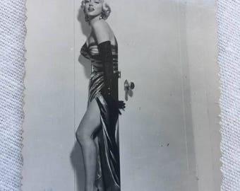 Rare carte postale ,vintage,  Marilyn Monroe , Post card