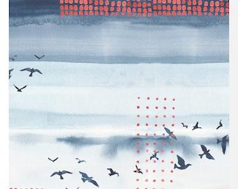 WANDERLUST by Monaluna - Sky - Organic Cotton Poplin (0.25m)