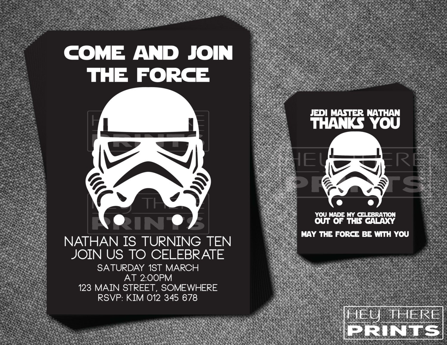 Storm trooper birthday invitations and thank you cards star zoom bookmarktalkfo Images