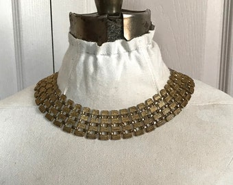 gold collar necklace . Cleopatra necklace . vintage collar necklace . retro choker