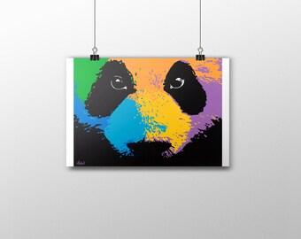 Panda - Print acrylic painting 45x30 cm - Animals
