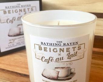 Beignets & Cafe au Lait - New Orleans Soy Candle Collection, 8.5oz Boxed Tumbler Jars, True NOLA, Mardi Gras