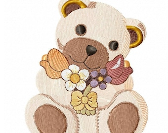 Teddy bear flowers and Tulips