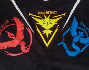 Pokemon Go Black t shirt team Valor team Mystic team Instinct infant toddler youth adult